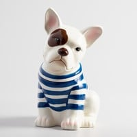 French Bulldog Ceramic Cookie Jar