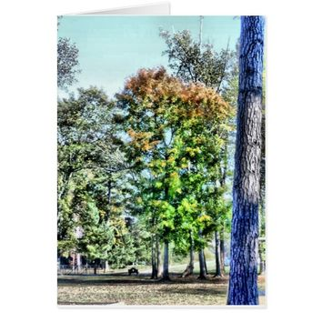 Blank Greeting Card for Fall