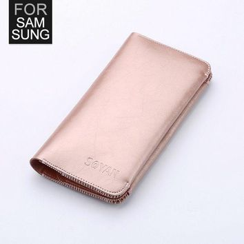 DCCKHY9 Soyan Wallet Practical Phone Pouch Case For Samsung Galaxy A5 A7 J5 J5008 J7 J7008 S5 S6 S7 S6Edge Note2 GrandMax G7200 G7106