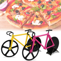 SHIP FROM US 1pcs Pizza Cutter Muse Black Yellow Bicycle Bike Pizza Cutter Wheel Kitchen utensils pizza baking bar Tools