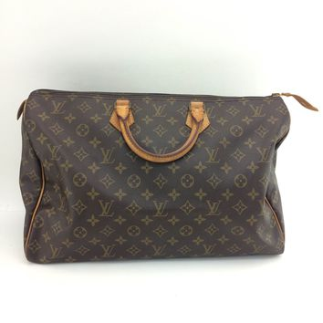 Auth Vintage Louis Vuitton Monogram canvas leather speedy40 M41522 Travel bag