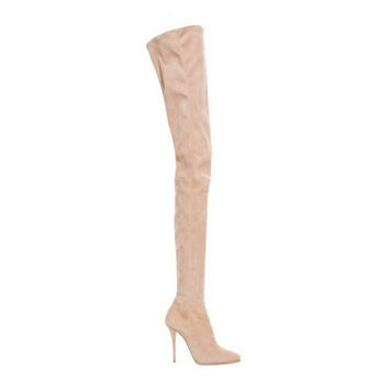 Balmain Chaterine' Suede Over-the-knee Boots