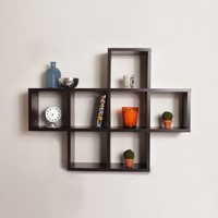 Cubby Shelving Unit in Walnut Finish