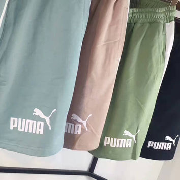 """PUMA"" Casual Print Contracted Stripe Vertical Shorts  G-A-XYCL"