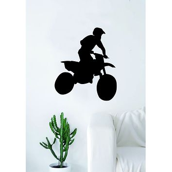 Moto X Rider V1 Silhouette Wall Decal Sticker Bedroom Living Room Decor Art Vinyl Sports Teen Kids Motocross Dirtbiker Dirt Bike