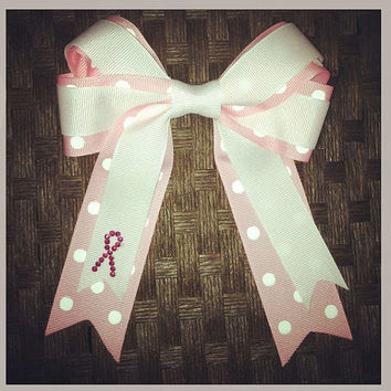 Breast Cancer Awareness Inspired Hair Bow