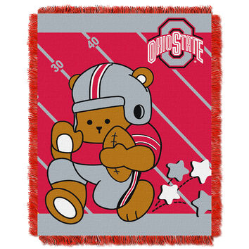 Ohio State Buckeyes NCAA Triple Woven Jacquard Throw (Fullback Baby Series) (36x48)