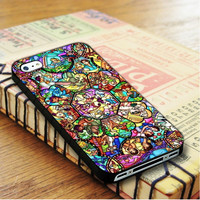 All Characters Disney Stained Glass The Little mermaid Tangled Alice   For iPhone 4/4S Cases   Free Shipping   AH0027