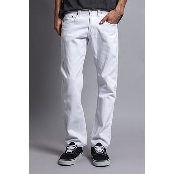 Men's Slim Fit Colored Jeans (White)