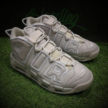 Best Online Sale Nike Air More Uptempo OG  Sport Baskerball Shoes Light Bone Sneaker