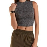 Sleeveless Mock Neck Crop Top by Charlotte Russe