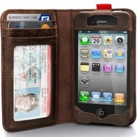 Apple Iphone 4 / Iphone4s Leather R.. on Luulla