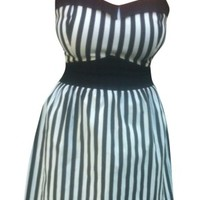 Women's White Stripe Dress