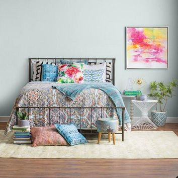 Eva Bohemian 5PC Reversible Quilt Set