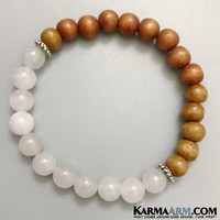 CLARITY: Snow Quartz | Wood | Yoga Chakra Bracelet