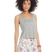 Tinseltown Juniors' High-Waist Floral-Print Shorts