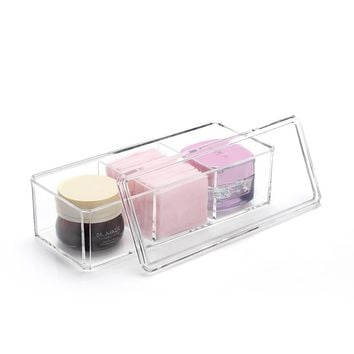 M Acrylic Makeup Cotton Organizers Clear Makeup Organizer Transparent  Cosmetic Containers Puff storage box Cosmetics box C31