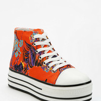 Urban Outfitters - BDG Printed High-Top Flatform-Sneaker