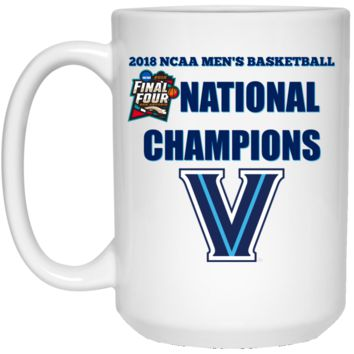 2018 NCAA Men's Basketball National Champions Villanova 21504 15 oz. White Mug