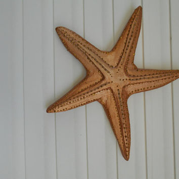 Nautical Starfish Wall Decor, Golden Bronze, Handmade, 20x22x2, Beach House Decor, Wall Hanging, Indoor or Covered Outdoor