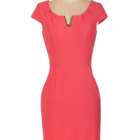 ModCloth Mid-length Cap Sleeves Sheath Presentation Confidence Dress