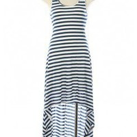 CASUAL NAUTICAL HIGH LOW DRESS @ KiwiLook fashion