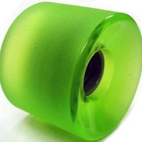 65mm Wheels w/ Bearings & Spacers (Stone Ground Clear Green)
