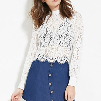Floral Eyelash Lace Top