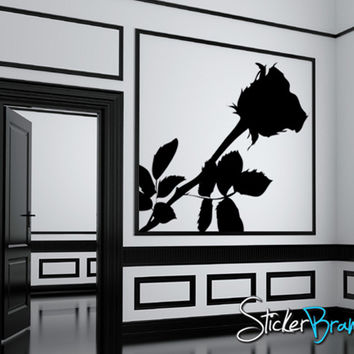 Vinyl Wall Decal Sticker Rose Throne Flower #AC144