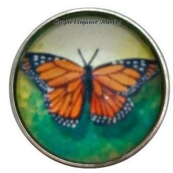Monarch Butterfly Snap 20mm for Snap Jewelry