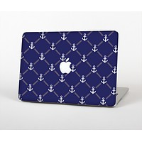 """The Navy Blue & White Seamless Anchor Pattern Skin for the Apple MacBook Pro 15"""""""
