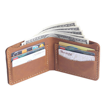 Handmade Leather wallet - Bifold Men's Leather Wallet - Men's Leather Wallet - Perfect Gift for him