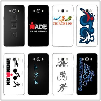 Slim Silicone Soft Mobile Phone Case For Samsung Galaxy J1 J2 J3 J5 J7 2015 2016 2017 Cover Cases Painted Ironman Triathlon Love