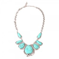 Attractive Oval Turquoise Pendant Necklace