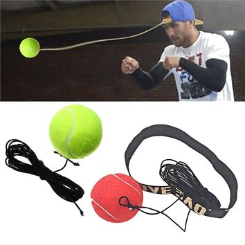 Bouncy Ball Fight Ball Boxing Equipment With Head Band For Reflex Speed Training Boxing Punch Muay Thai Exercise