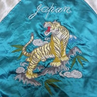 On Sale 15% OFF Sukajan Jacket Satin Vintage Rare Embroidered Tiger's Roaring Japan Yokosuka Varsity Souvenir Bomber Jacket