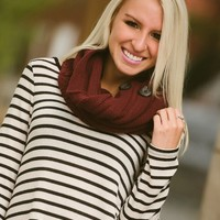 Neck Warmer Infinity Scarf (Burgundy) - Piace Boutique