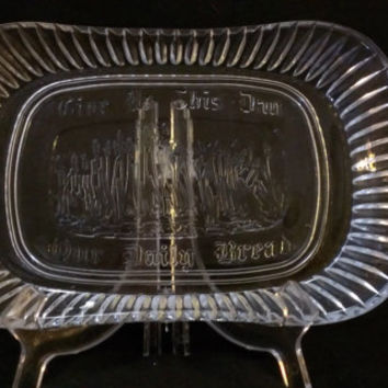 Godinger Lead Crystal Bread Tray (692)
