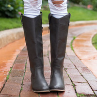 Season Change Riding Boots Charcoal