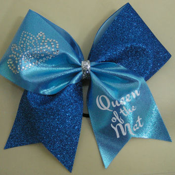 Queen of the Mat Cheer Bow