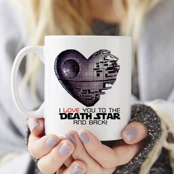 Valentine's Love Death Star Mug Gift