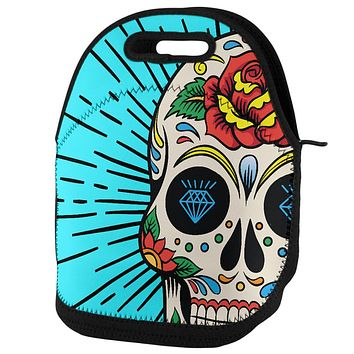 Sugar Skull Lunch Tote Bag