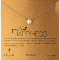 """Dogeared Jewels and Gifts """"Pearls of . . . Happiness"""" Gold-Plated Silver Large Pearl Necklace, 18"""""""