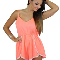 Daisy May Playsuit in Coral