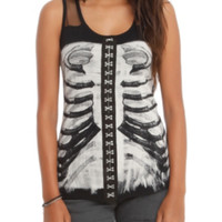 Teenage Runaway Rib Cage Hook N' Eye Girls Tank Top