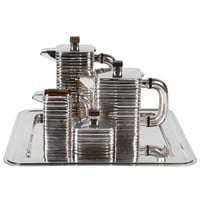 American Art Deco Sterling Coffee and Tea Set on Modernist tray c. 1935