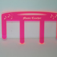 Ready to ship music teacher music page holder pageholder  teacher gift