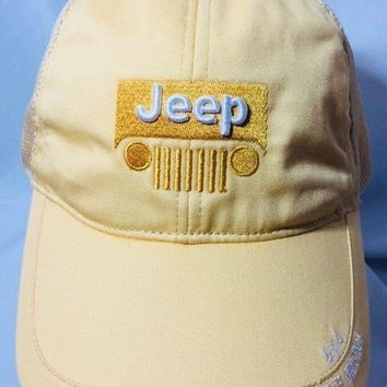 MDIG5 JEEP Logo It's a JEEP Thing Pale Yellow 4X4 The Original Hat Baseball Ball Cap