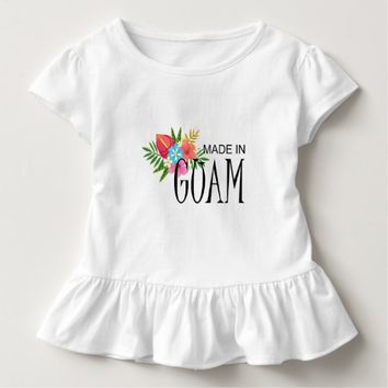 Made in Guam With Flowers Toddler T-shirt