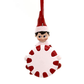 Holiday Ornaments ELF ON SHELF PERSONALIZABLE Polyresin Department 56 4058917